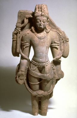 The Hindu deities Shiva and Vishnu combined as Harihara, 600-700. Central India. Sandstone. Museum purchase, (Asian Art Museum, B70S1).