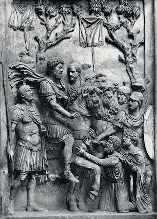 Relief from honorary monument to Marcus Aurelius, 176-180 C.E., marble 350 cm (Capitoline Museums, Rome)