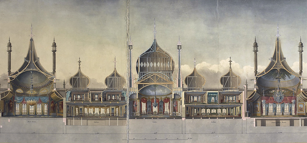 John Nash. The Royal Pavilion at Brighton, 1827 © British Library Board