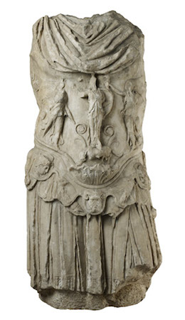 Torso of a statue of the emperor Hadrian wearing a cuirass, c. 130-141 C.E., 137 cm high, from Cyrene, northern Africa, © Trustees of the British Museum