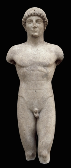 The Strangford Apollo, c. 500-490 B.C.E., 101 cm high, perhaps from Cyclades, Aegean Sea © Trustees of the British Museum