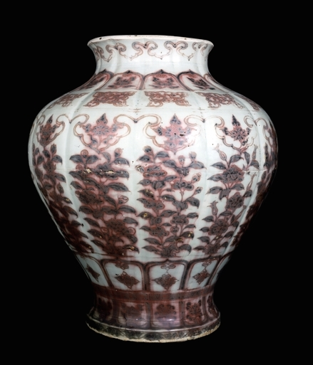 From Jingdezhen, Jiangxi province, southern China, Ming dynasty, Hongwu period, 14th century