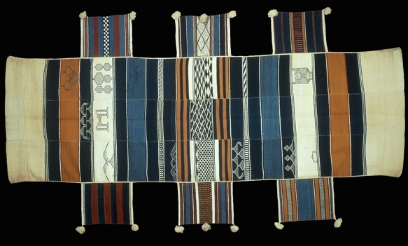 Cotton hammock, Sierra Leone, Vai people, cotton, early 20th century, 213 x 125 cm, © Trustees of the British Museum