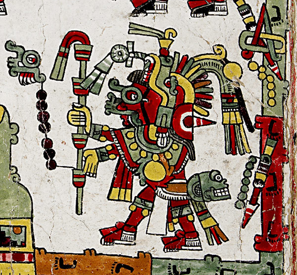 Codex Zouche-Nuttall (detail with skull), Mixtec, Late Postclassic period, 1200-1521, C.E., deer skin, 47 leaves, each 19 x 23.5 cm © Trustees of the British Museum