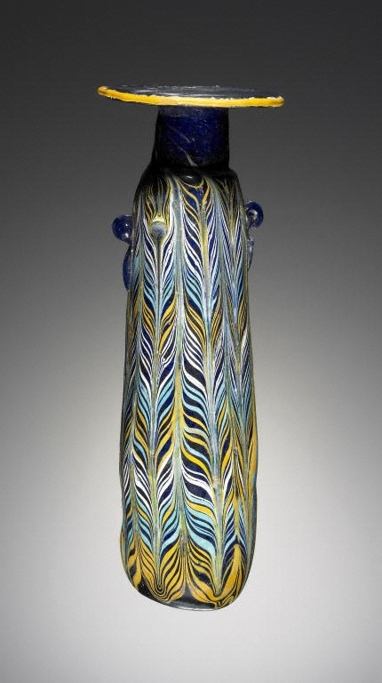 Alabastron, Greek, 4th - 3rd century B.C.E., Glass (The J. Paul Getty Museum, Villa, 2003.193)