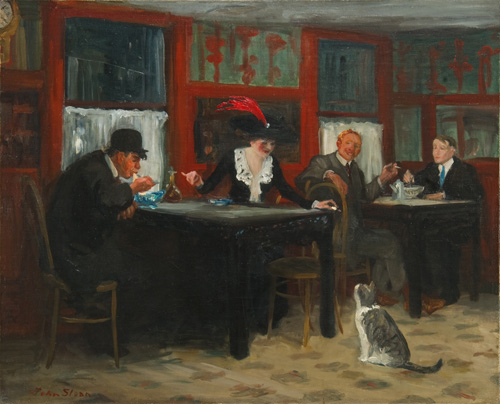 John Sloan. Chinese Restaurant. 1909, oil on canvas, 26 x 32 1/4 in. / 66 x 81.9 cm (Memorial Art Gallery of the University of Rochester)