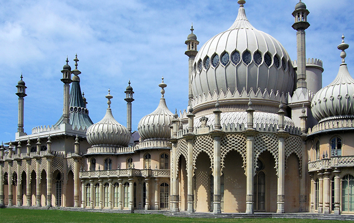 John Nash, Royal Pavilion, Brighton, 1815-23 (edited photo: Jim Linwood, CC BY 2.0)