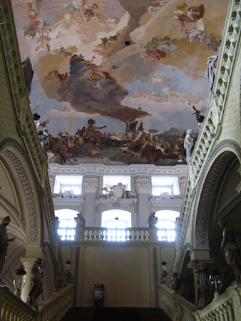Johann Balthasar Neumann (designer), a view of Apollo and the Continents by the Giambattista and Domenico Tiepolo, Residenz Staircase, completed in 1744 (Residenz Palace, Würzburg, Germany), photo: paula soler-moya (CC BY-NC-ND 2.0)