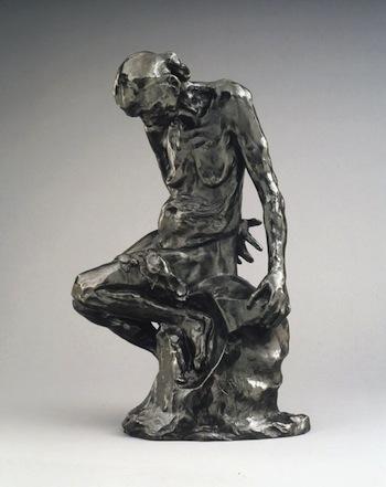 Auguste Rodin, She Who Was the Helmet Maker's Once Beautiful Wide, 1885-88, bronze, cast 1969, 50.2 x 33.0 x 24.8 cm (Brooklyn Museum)