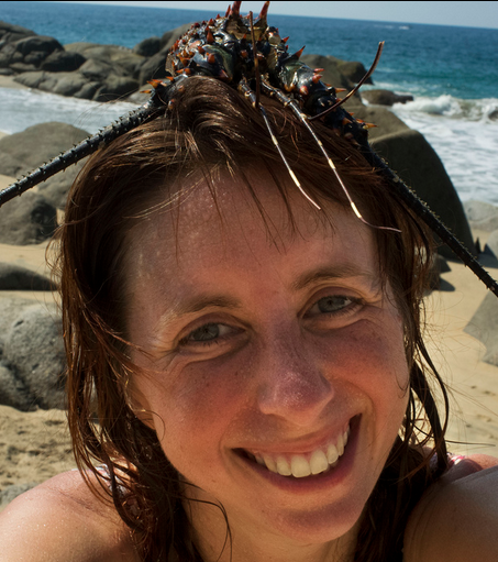 Photo of Sarah with a lobster hat