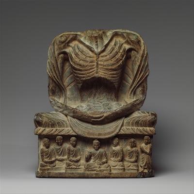 Fasting Buddha Shakyamuni, 3rd-5th century Kushan period, Pakistan/ancient Gandhara (Metropolitan Museum of Art)