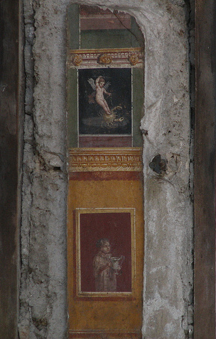Frescoes in the atrium, House of the Vettii, Pompeii
