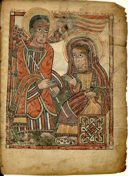 *Annunciation, Ethiopien d'Abbadie 105*, fol. 5, (photo: Bibliothèque nationale de France).