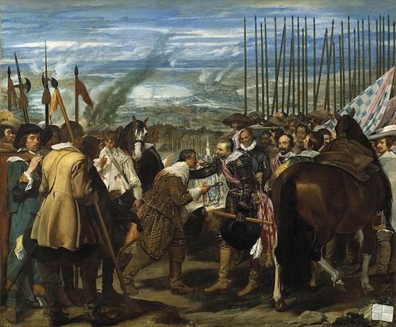 Diego Velázquez, The Surrender of Breda, 1634-35, oil on canvas, 307 cm × 367 cm (Museo del Prado, Madrid)