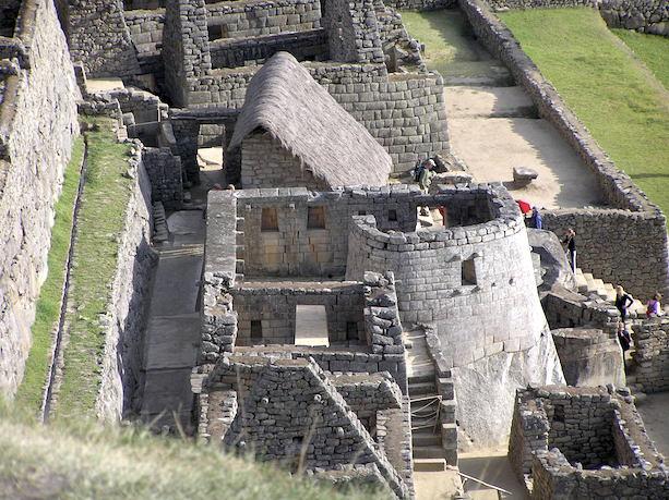 The Observatory, seen from above, Machu Picchu, Peru, c. 1440-1540, photo: Stephen Trever