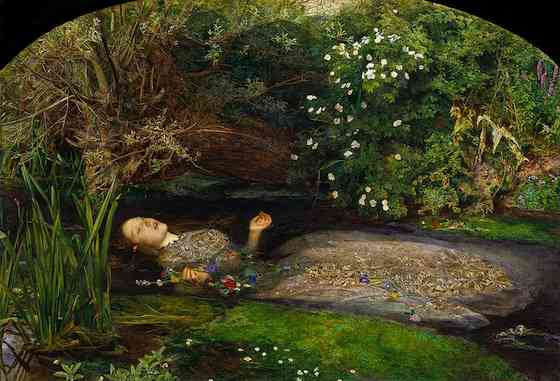 waterhouse  the lady of shalott   the pre raphaelites and mid    sir john everett millais  ophelia      oil on canvas