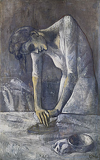 Pablo Picasso, Woman Ironing, 1904, oil on canvas, 116.2 x 73 cm (Guggenheim Museum, New York)