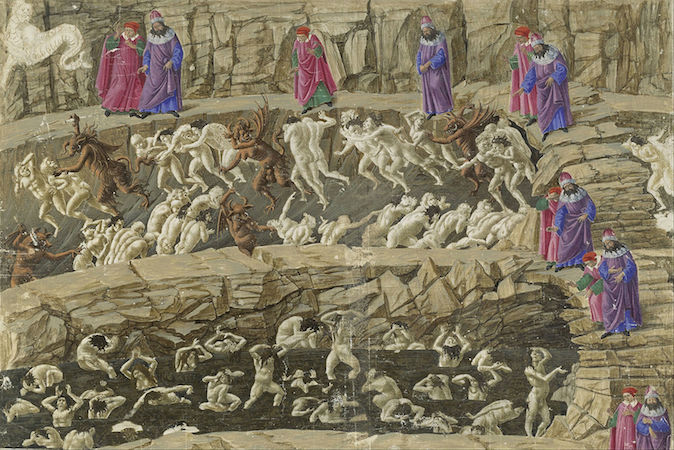 Sandro Botticelli, Drawing for Dante's Divine Comedy, 1480-95, gouache, pen and brown ink over metal point on parchment (Staatliche Museen, Berlin)