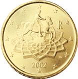 Reverse of Italian € 0.50 coin