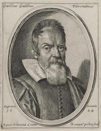 Ottavio Leoni, Portrait of Galileo, 1624, engraving and etching (Fitzwilliam Museum)