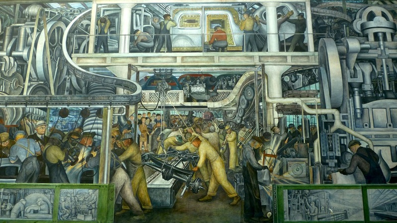 Rivera detroit industry murals article khan academy for Diego rivera mural detroit