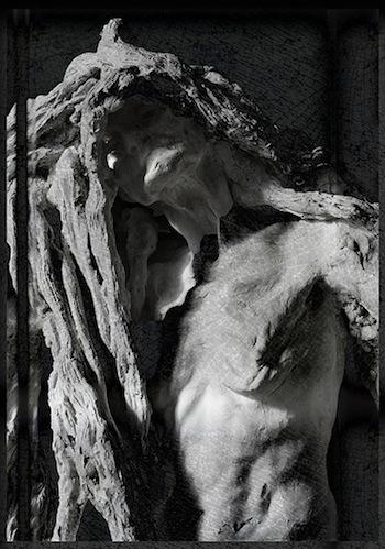 Camille Claudel, Clotho, 1893, plaster, 90 x 49.3 x 43 cm, Musée Rodin, Paris (photo: Clapagaré, CC BY-NC-SA 2.0)