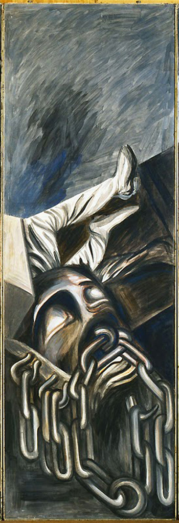 Detail, José Clemente Orozco, Dive Bomber and Tank, 1940