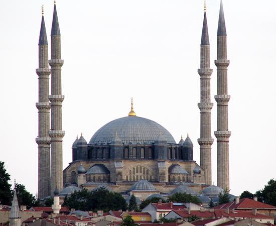 Mimar Sinan, Mosque of Selim II, Edirne, Turkey, 1568–75 (photo: grcnysll CC BY-NC-SA 2.0) https://flic.kr/p/75QVDN