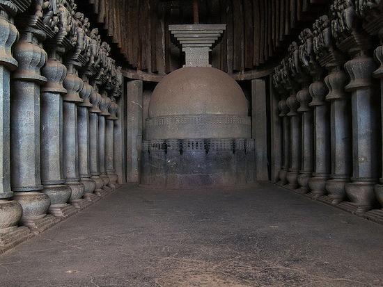 Chaitya at Karle near Lonavala, Maharashtra, first century B.C.E