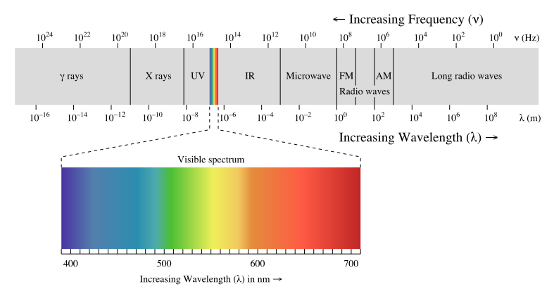 Light: Electromagnetic waves, the electromagnetic spectrum and