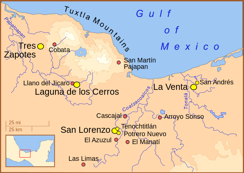Map Of America Gulf Coast.The Olmec Ancient Civilizations Article Khan Academy