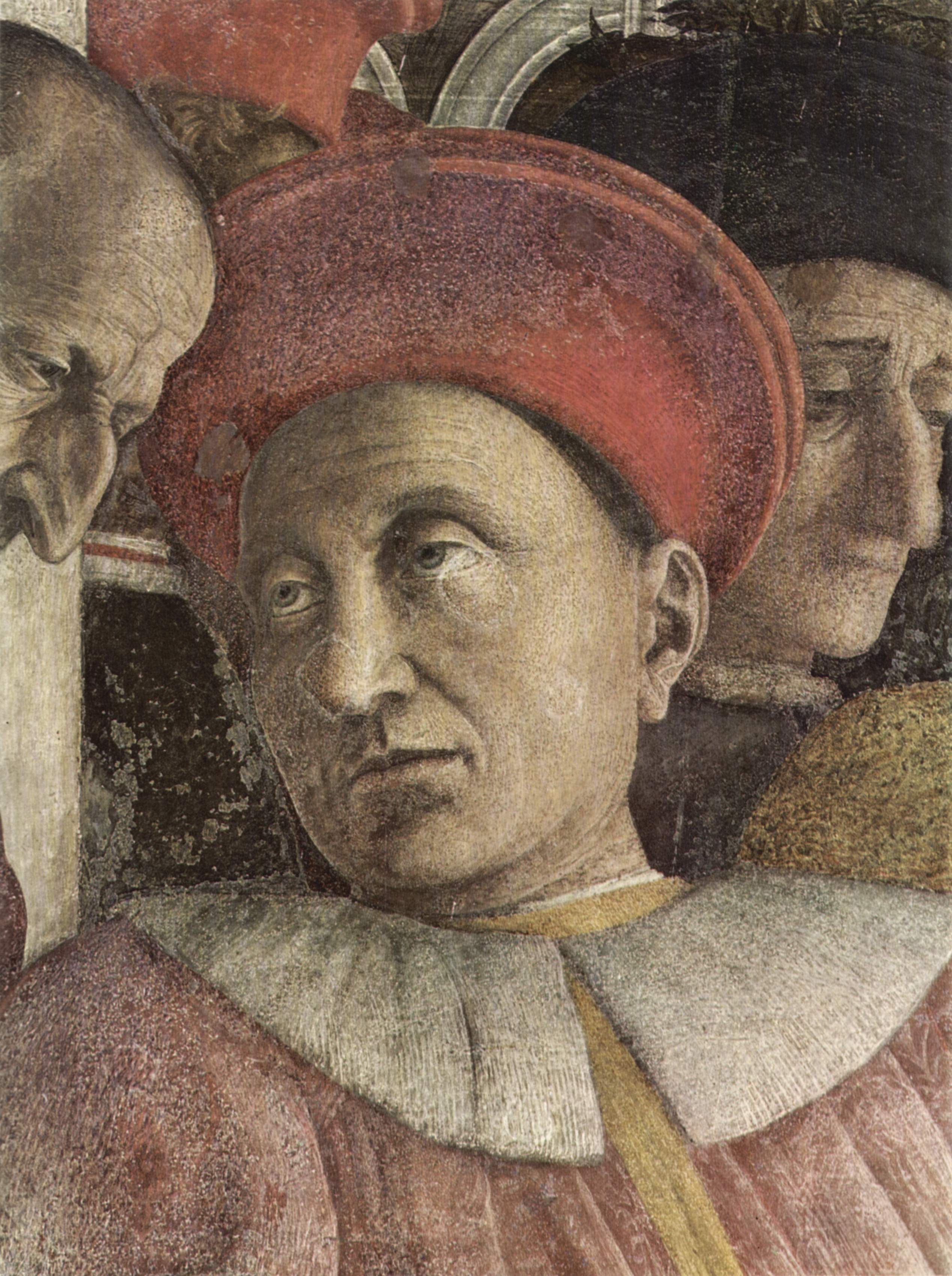 Andrea Mantegna, detail of Ludovico Gonzaga, Camera degli Sposi, 1465-74, fresco, Ducal Palace, Mantua