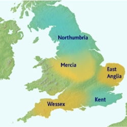 Map of Anglo-Saxon England