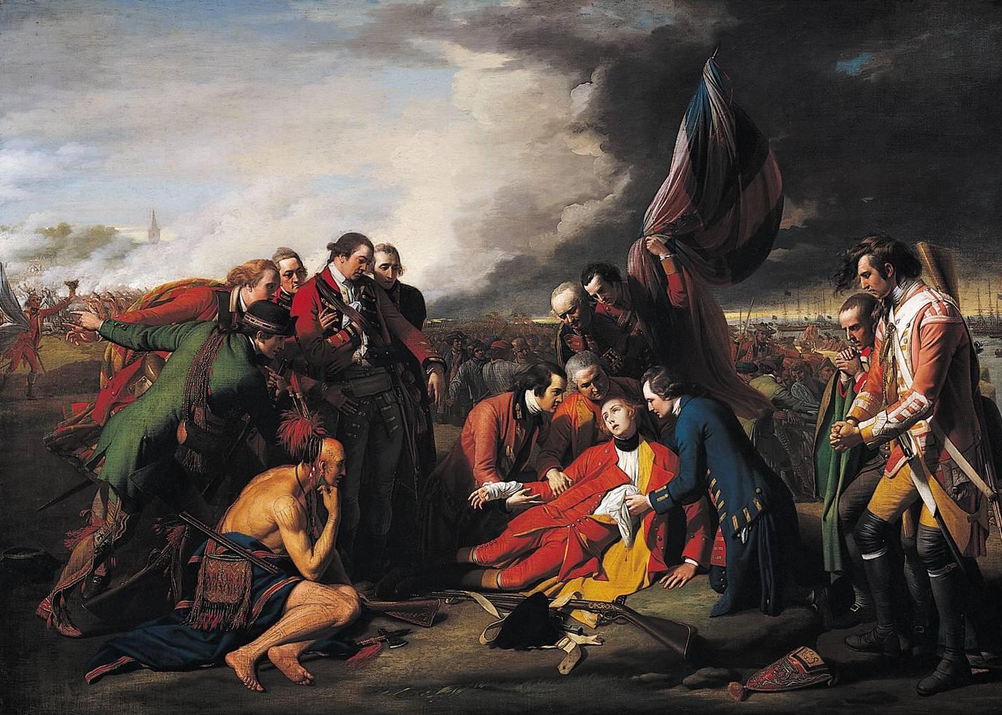 Benjamin West, The Death of General Wolfe, 1770, oil on canvas, 152.6 x 214.5 cm (National Gallery of Canada)