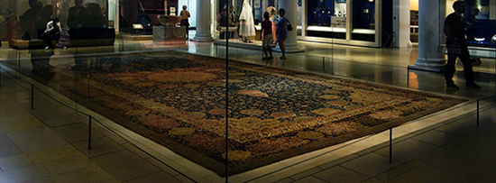 The Ardabil Carpet at the Victoria and Albert Museum