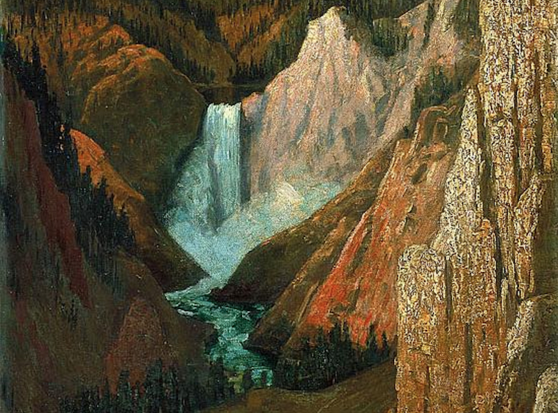 Brown, View of the Lower Falls, Grand Canyon of the Yellowstone