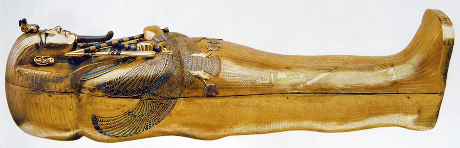 Tutankhamun's tomb (innermost coffin and death mask