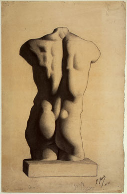 Pablo Picasso age 12 or 13, Study of a Torso, After a Plaster Cast, 1893-94 (Musée Picasso)