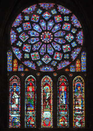 North Transept Rose Window, c. 1235, Chartres Cathedral, France