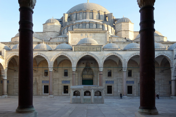 Mimar Sinan, Süleymaniye Mosque built for the Sultan Süleyman the Lawgiver, 1558, Istanbul