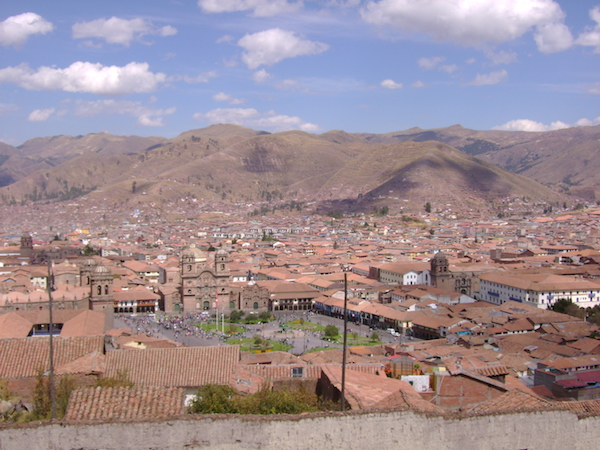 The modern city of Cusco, overlooking the Plaza de Armas, photo: Michael and Kristine Senchyshyn (CC BY-NC-SA 2.0)