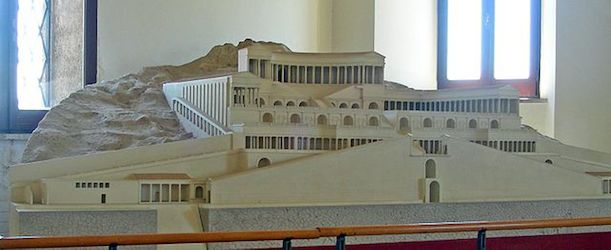 the modernization of the old sanctuary of fortuna primigenia Model of the sanctuary of fortuna primigenia, from the archeological museum, palestrina (cc by-sa 30) the sanctuary of fortuna primigenia in modern day palestrina is comprised of two complexes, an upper and a lower one the upper complex is built into a hillside and terraced, much like a hellenistic sanctuary, with.