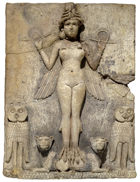 The 'Queen of the Night' Relief, Old Babylonian, 1800-1750 B.C.E., 49 x 37 x 4.8, baked straw-tempered clay © The Trustees of the British Museum