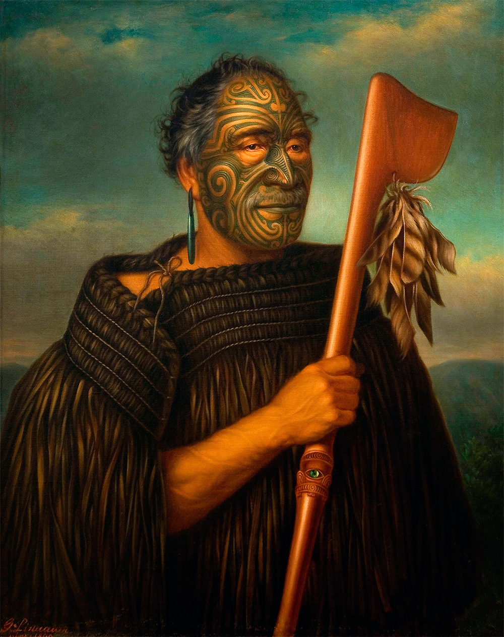4112d6b87 Gottfried Lindauer, Tamati Waka Nene, 1890, oil on canvas, 101.9 x 84.2