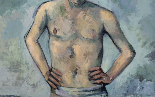 Arms and torso (detail), Paul Cézanne, The Bather, 1885-86, oil on canvas, 127 x 96.8 cm (MoMA, New York)