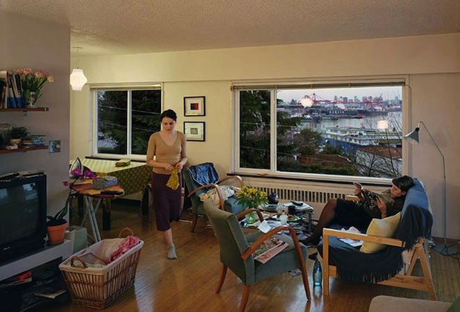 Jeff Wall, A View from an Apartment, 2004-05, transparency on lightbox, 1670 x 2440 mm © Jeff Wall, by permission of the artist, special thanks to Sandy Heller, The Heller Group, LLC