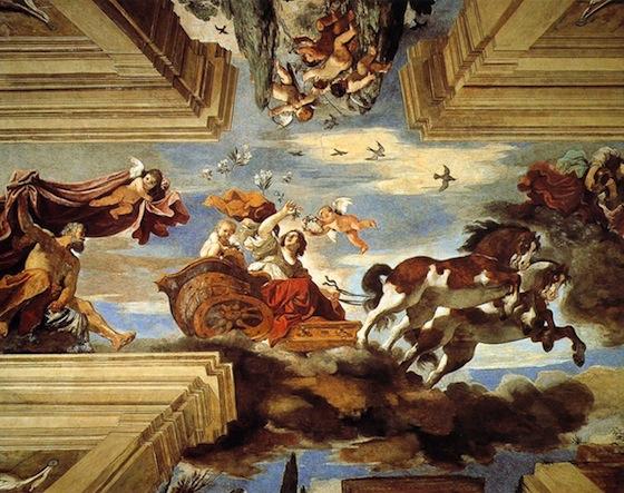 Guercino, Aurora, c. 1621, fresco (Casino di Villa Boncompagni Ludovisi, Rome)