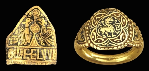Æthelwulf Ring, c. 828-58, niello, gold, 2.8 cm diameter, England, © Trustees of the British Museum