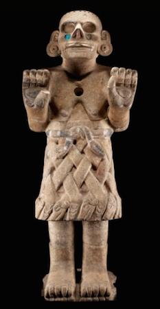 Coatlicue de Cozcatlán, c. 1500, Mexica (Asteca), 115 cm de altura (Museu Nacional de Antropologia, Cidade do México)