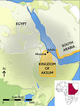 Map of the Kingdom of Aksum